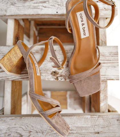 Sandals - Topanga Heeled Sandals - Taupe