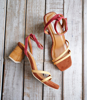 Topanga Heeled Sandals - Terracotta