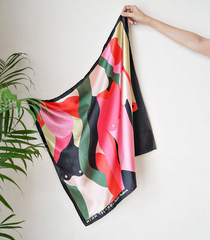Scarf - Neon Island X Mikka Padua Color Is Curative Scarf (Large)