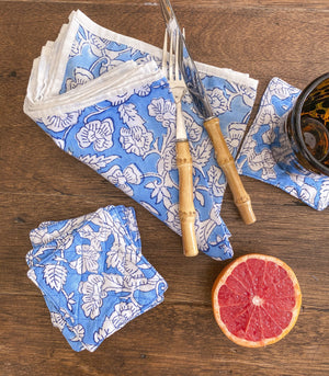 Sets - Moti Handblock Printed Napkins + Coasters (Set Of 4)
