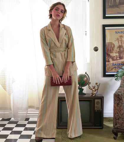 Sets - Patras Linen Blazer And Pants Set