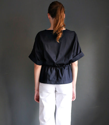 Shirt - Krosno Bow-Effect Cotton Shirt