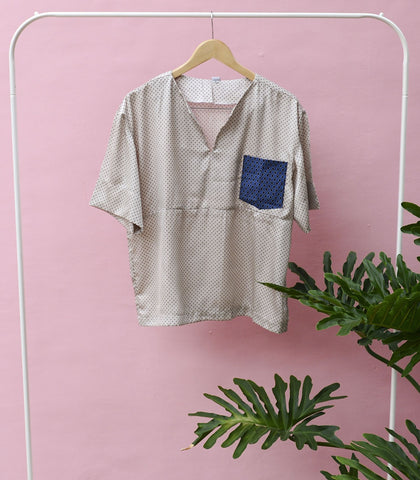 Shirt - Sample 186| One Pocket Cropped Top