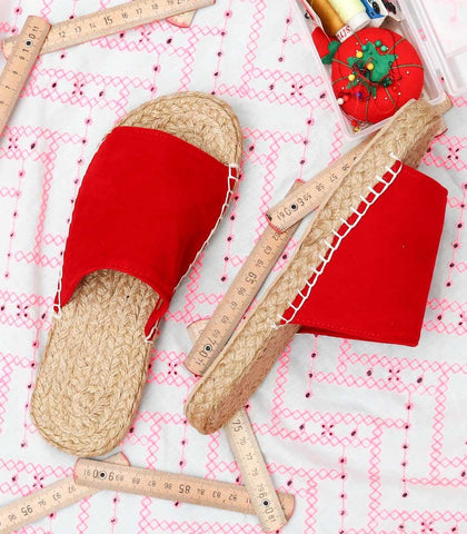 Shoes - Champerico Suede Abaca Slides