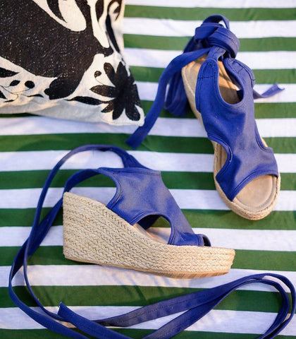Shoes - Flordeliza Woven Abaca Wedges