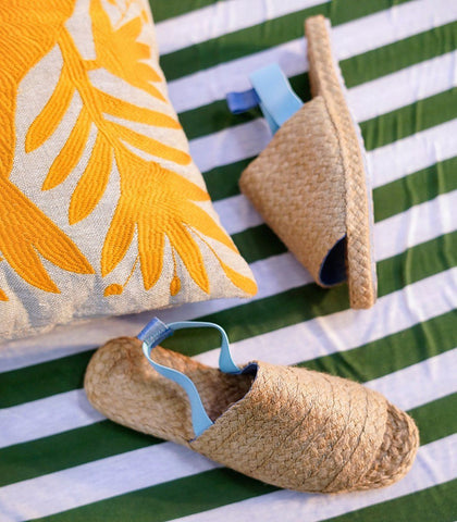 Shoes - Nenita Woven Abaca Sling Backs