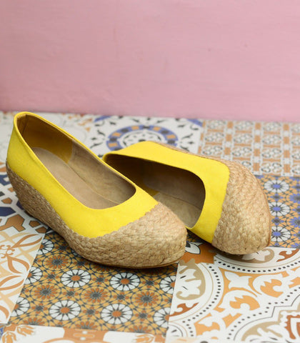 Shoes - Nida Woven Abaca Wedges