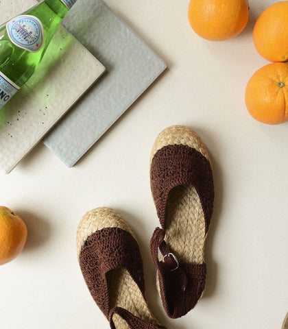 Shoes - Tayumi Crocheted Espadrilles
