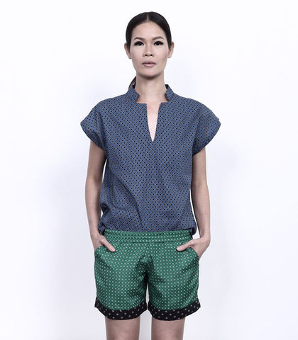 Shorts - ANDROGYNE 004 | Mixed Print Shorts