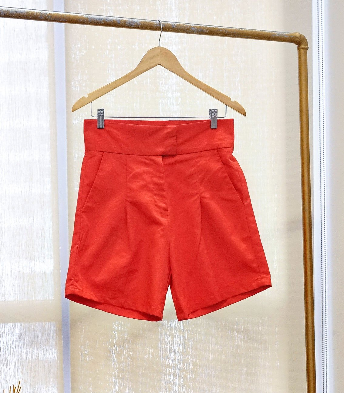 Shorts - SAMPLE 297 | Pleat-front High Waist Shorts