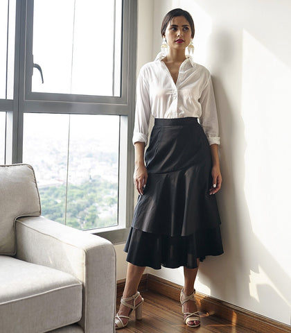 Bruna Layered Ruffled Skirt