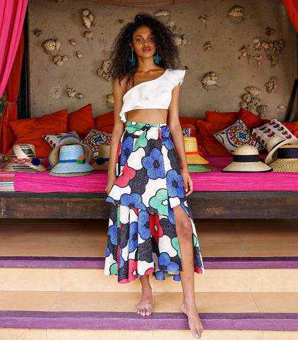 Skirt - Cochabamba Printed Circle Skirt (Big Floral)
