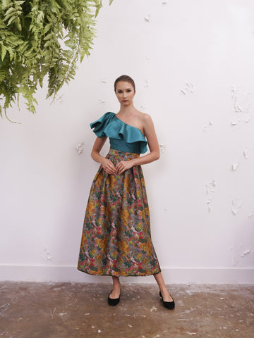 Skirt - Jill Lao Melissa Reversible Pleated Maxi Skirt
