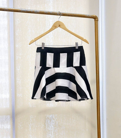 Skirt - SAMPLE 301 | Flounce Mini Skirt - Striped