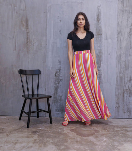 Skirt - Snina Candy Stripes Maxi Skirt