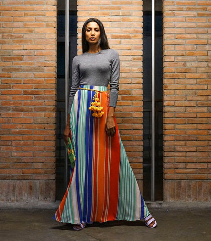 Skirt - Snina Sunset Stripes Maxi Skirt