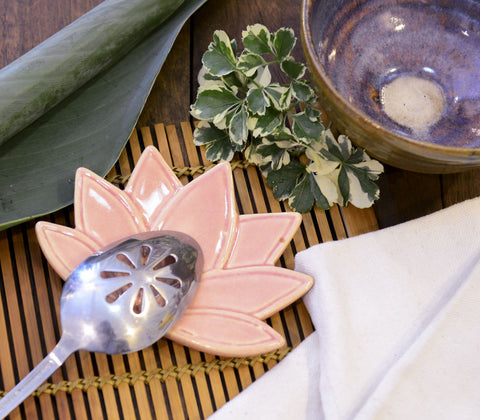 Spoon Rest - Lotus Flower Spoon Rest