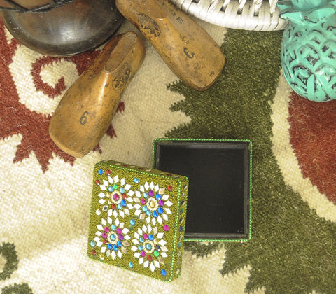 Storage - Darwaza Beaded Square Box