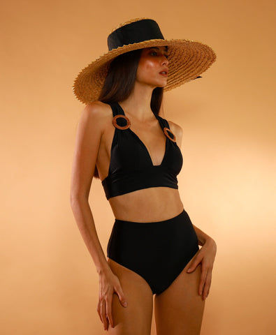 Swimwear - Agua Brazilian Bay Bottom (Black)