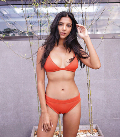 Swimwear - Amihan Swim Ian High Cut Triangle Bikini (Orange)