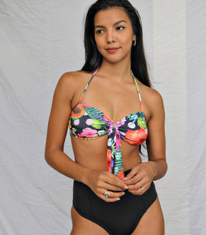 Badj Swim Frutas Y Mas Ruched Tropical Bra and High-Waisted Bikini Set