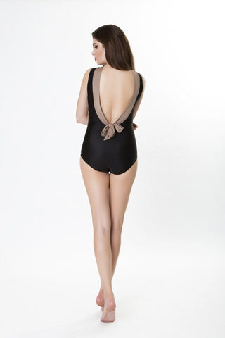Swimwear - Helena High Neck Maillot With Bow