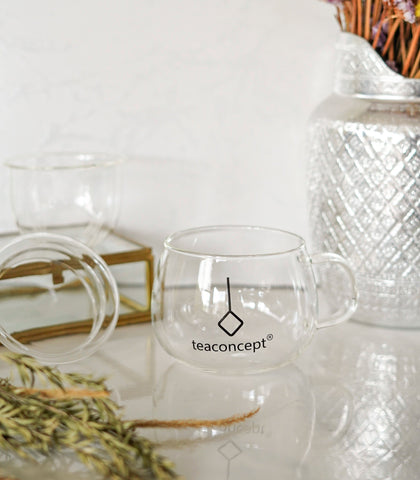 Tea Glass - Single Wall Infuser Glass