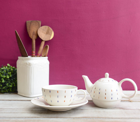 Tea Pot - Ceramic Tea For One Set