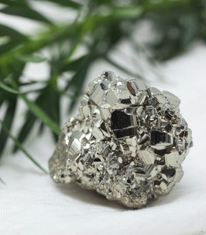 Calm Chakra Raw Pyrite Crystal (2 sizes)