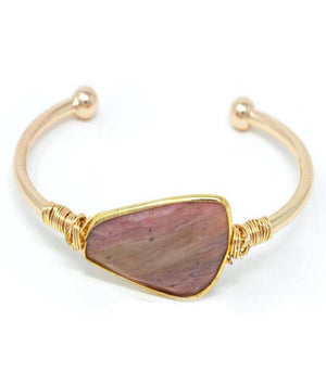 Soul Stone Bracelet - Redwood Agate Bangle