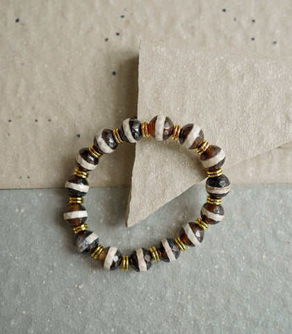The Crystal Shop - Soul Stone Bracelet - Striped Tibetan Agate