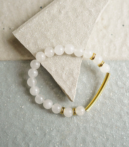 The Crystal Shop - Soul Stone Bracelet - White Jade