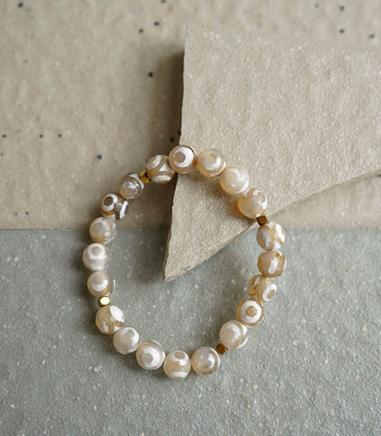 The Crystal Shop - Soul Stone Bracelet - White Tibetan Agate