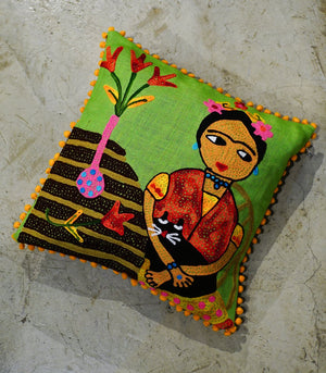 Throw Pillow - Divya Square Throw Pillow