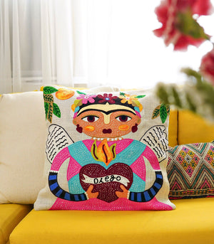 Divya Square Throw Pillow Case