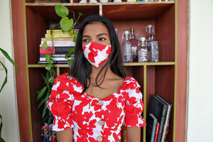 Korce Floral Cropped Top + Mask