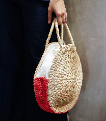 Abaca Round Tote (STU Exclusive)