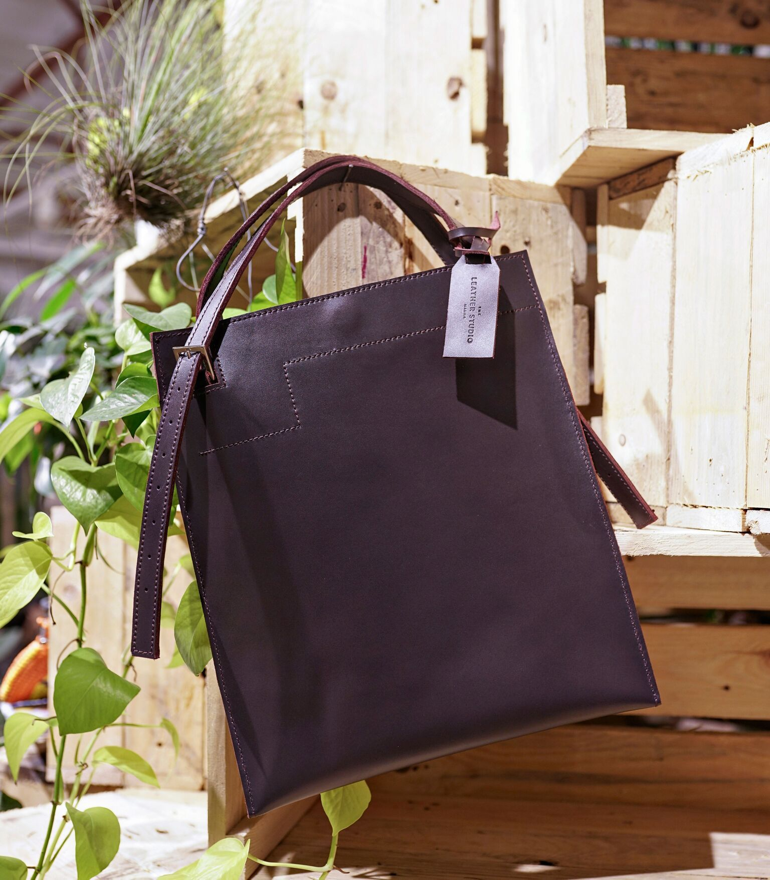 Tote - Leather Tote (Tall) ...