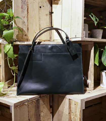 Tote - Leather Tote (Wide)