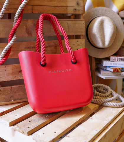 Tote - Viajecito Tote Bag (Midi Size - Apple Red)
