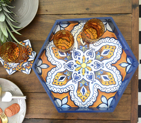 Tray - Andalucia Octagon Serving Tray