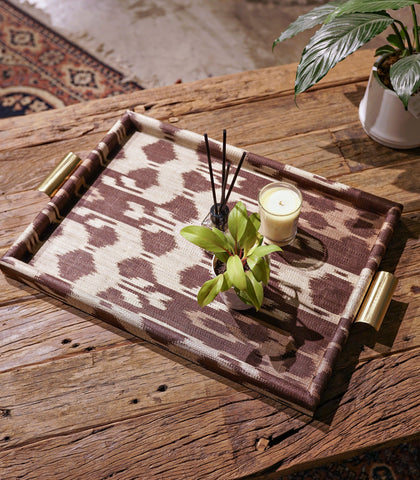 Tray - Tunis Brown Ikat Tray