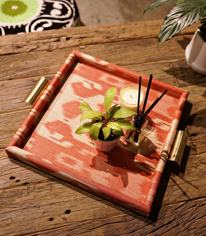 Tray - Tunis Red Ikat Tray