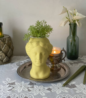 Venus Head Ceramic Vase