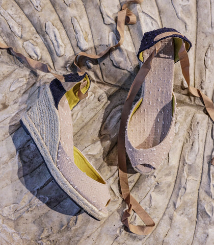 Wedges - Raffa Lace-Up Wedge Espadrilles (Linen - 4 Variants)