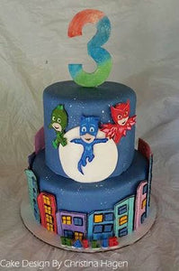 Deluxe PJ Masks Cake Kit