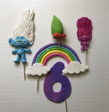 Load image into Gallery viewer, Fondant Trolls Cake Toppers