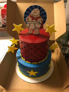 Captain Underpants Cake Topper