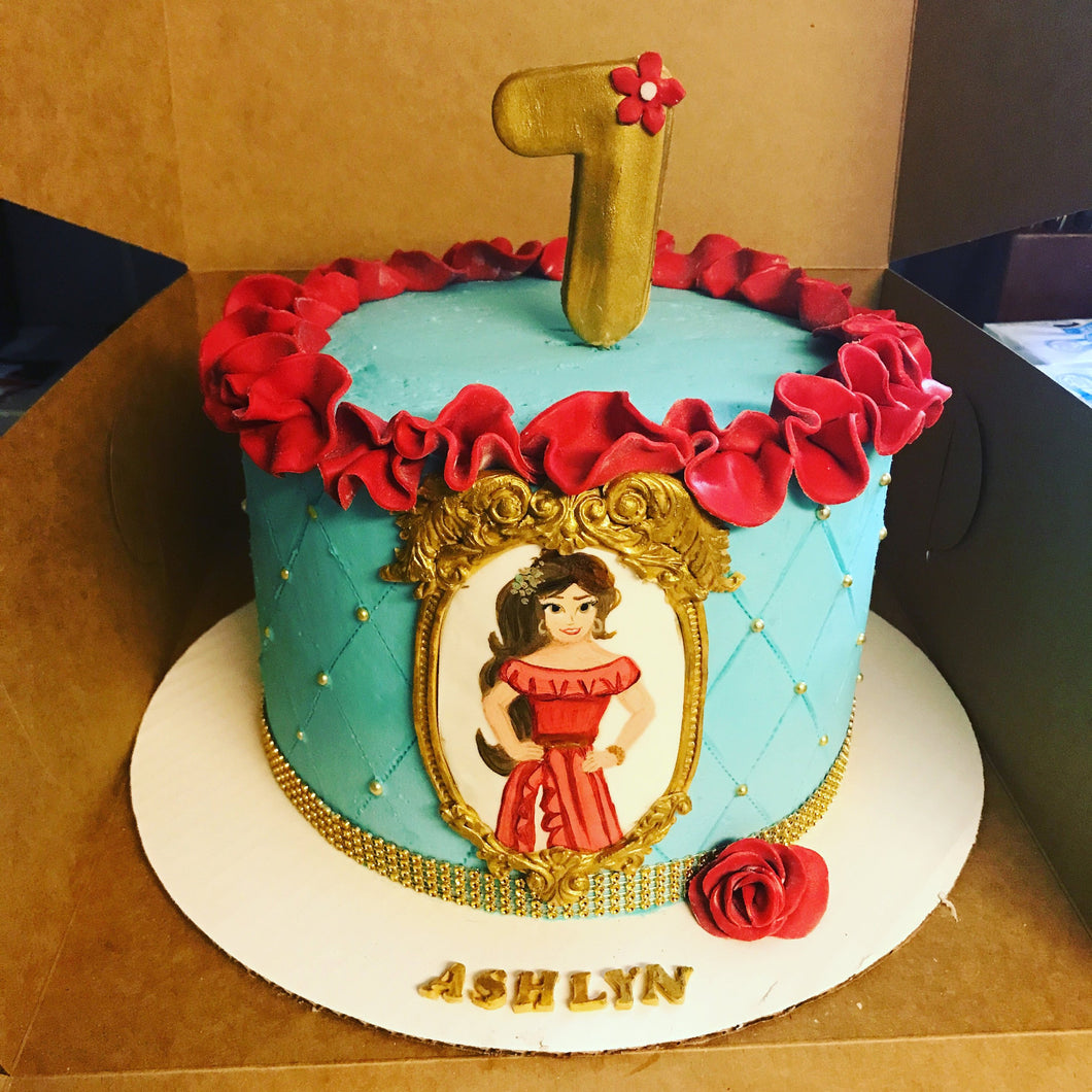 Fondant Elena of Avalor Cake decorations