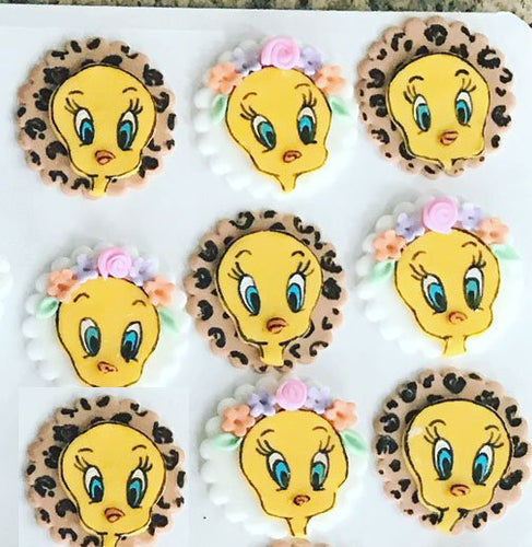 Tweety Bird Cupcake Toppers